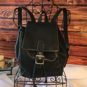 Coach Legacy Leather Backpack in Black